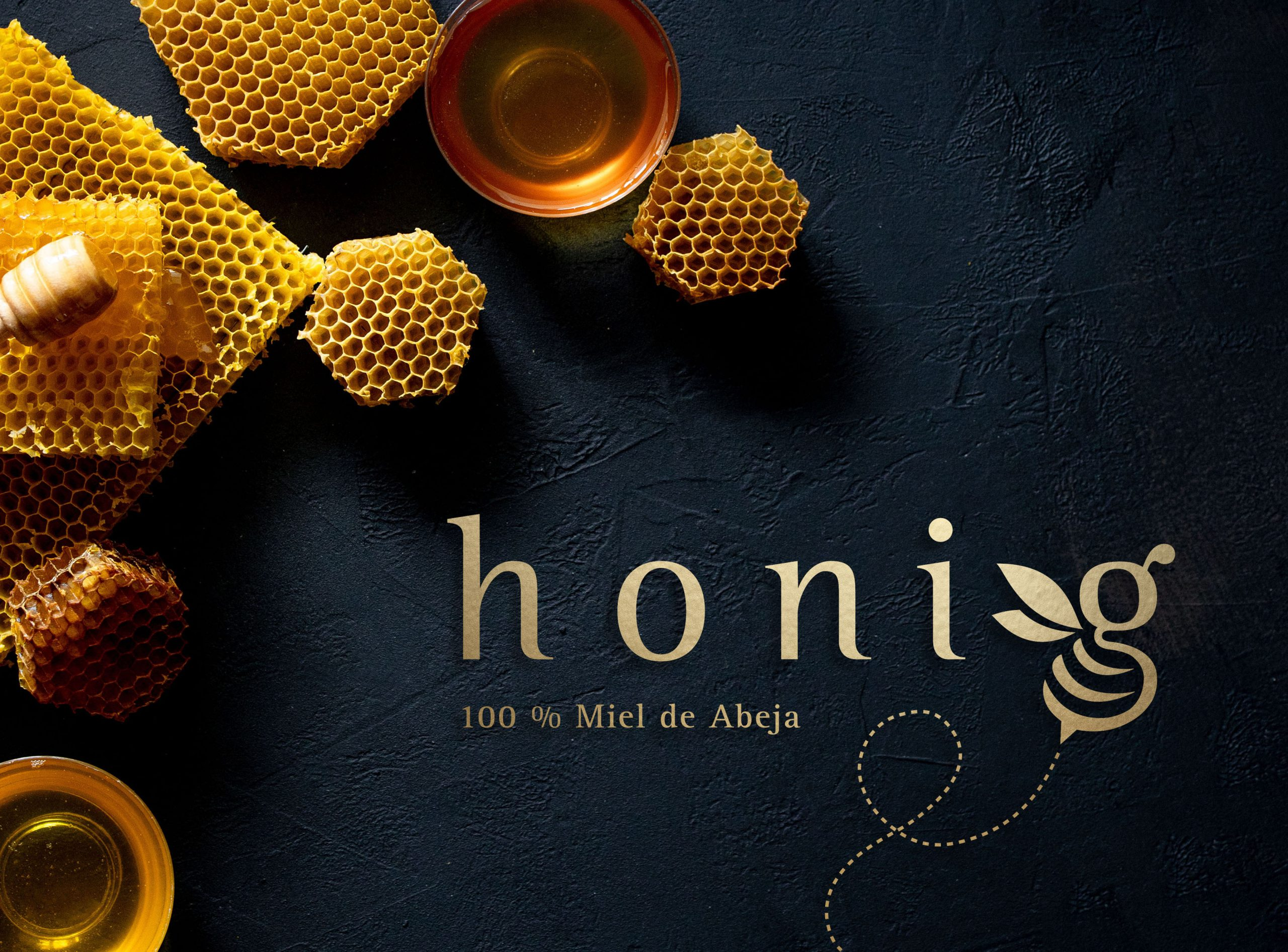 Honey,With,Honeycomb,On,Black,Table,,Top,View.,Space,For